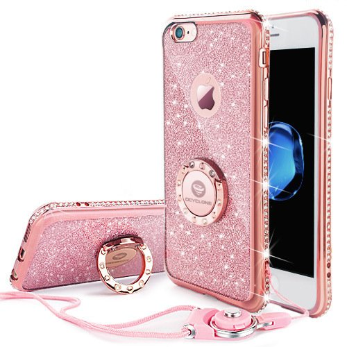 Luxury bling bling sleek design this iphone 6s Plus case also fit iPhone 6  Plus edge is inlaid with artificial rhinestone diamond dafb347b079d