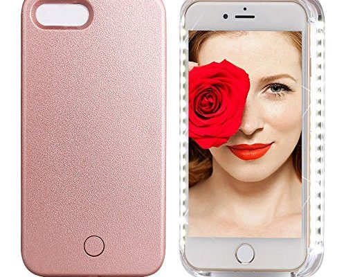 Sanluba Rose Gold Selfie Light Phone Case LED Illuminated Shell Cover Back Cover Photography Enhancing For iPhone 6s Plus/iPhone 6 Plus