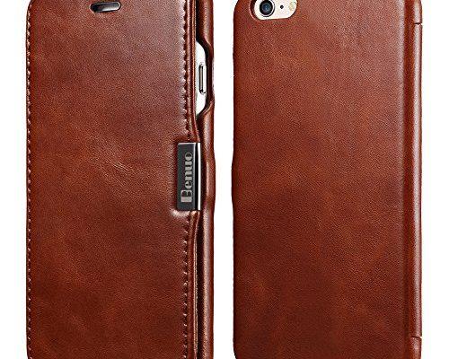 Iphone 6s 6 Case Benuo Vintage Series Genuine Leather Folio Flip