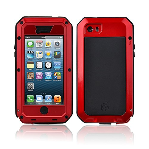New waterproof shockproof aluminum gorilla glass metal Military Heavy Duty Armor Bumper Cover Case for Apple iPhone ...