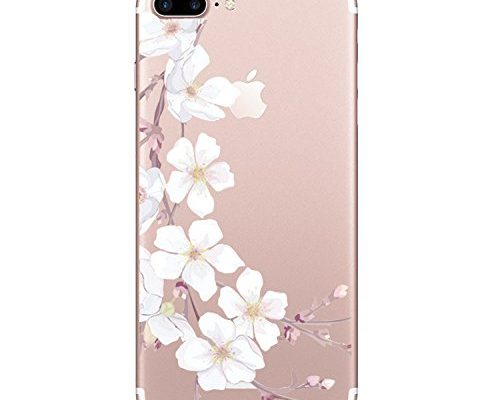 897e5dd74e iPhone 7 plus 5.5Inch Case, Iessvi Fashion Flowers Pattern TPU Silicone Soft  Cover Shell for iPhone 7 plus 5