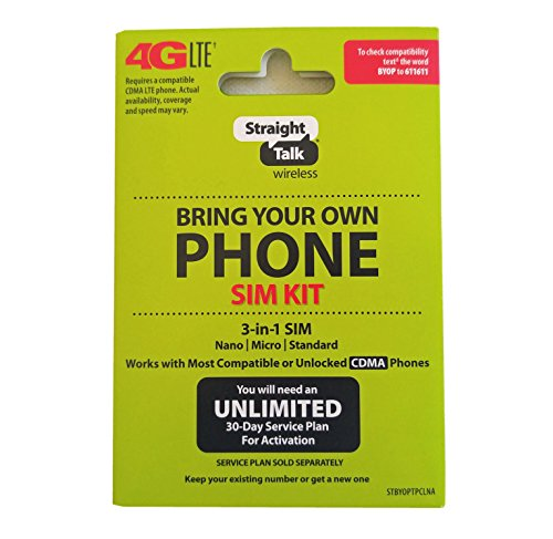 Straight Talk AT&T Compatible SIM card for AT&T phone or Unlocked