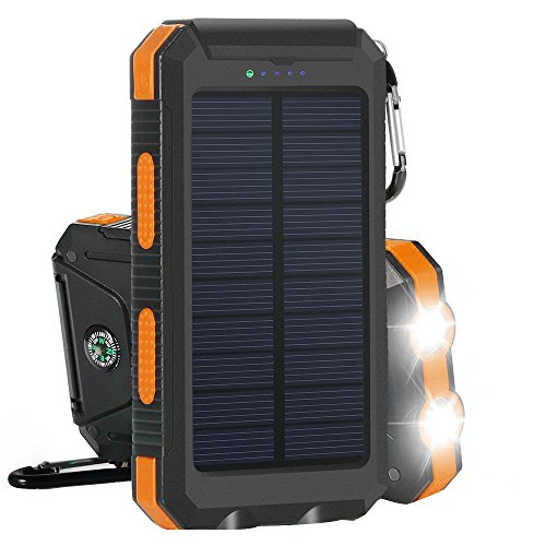 Solar Charger Teryei Solar Power Bank 15000mAh External