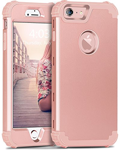 iPhone 6S Case, iPhone 6 Case, BENTOBEN 3 in 1 Hybrid Hard PC & Soft Silicone Heavy Duty Rugged Bumper Shockproof Anti Slip Full-Body Protective Case for ...