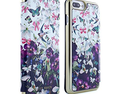 72b2e89b7 Official TED BAKER SS17 Fashion Branded Mirror Folio Case for iPhone 8 Plus    7 Plus Protective Wallet iPhone 8 Plus   7 Plus Cover for Professional  Women ...