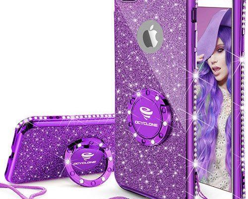 Purple Iphone 6s Plus Case Glitter Cute Phone Case