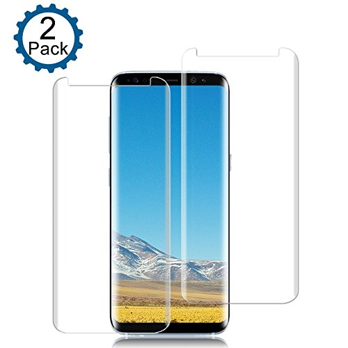 2-Pack Galaxy S8 Plus Screen Protector, Auideas Tempered
