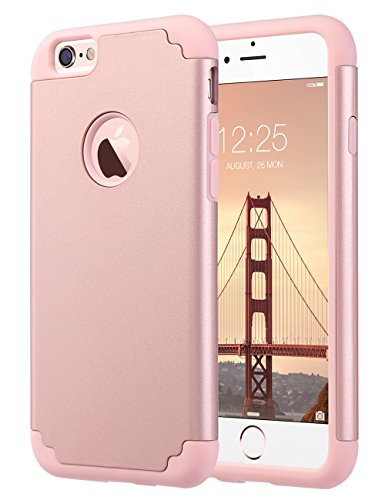 bb791e49b34e iPhone 6S Case,iPhone 6 Case, ULAK Slim Dual Layer Soft Silicone & Hard  Back Cover Bumper Protective Shock-Absorption & Skid-proof Anti-Scratch Hybrid  Case ...