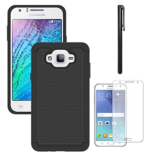 Galaxy J7 Neo J701M /J7 Nxt J701F /J7 Core J701 Case, With Screen Protector, Telegaming Dual Layer Armor Case Drop Protection TPU & Hard PC Back Cover For ...