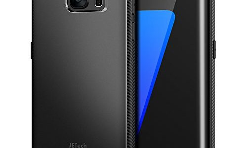 13df9c4d33aa JETech Case for Samsung Galaxy S7 Edge Protective Cover with Shock- Absorption and Carbon Fiber Design Black
