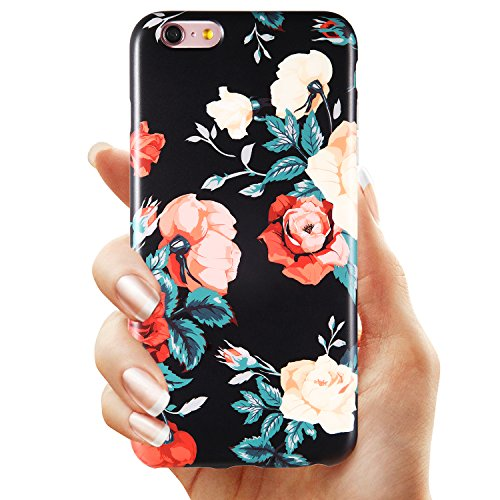 30d4e70dfea683 Floral roses design iphone 6 6s plus case for women/girls/teengirls. The  printing is high quality, and smooth. Slim fit, easy access to all ports,  durable, ...