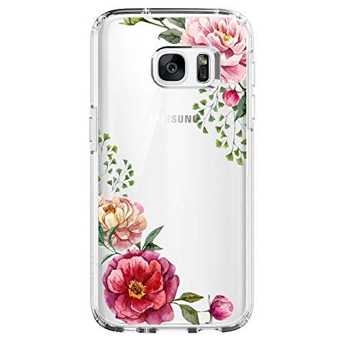 Flyeri Samsung Galaxy S6 Case, Crystal Summer Color Mark Dragon Fruit Orange Flower Girl boy Transparent Clear Soft Silicone TPU Ultra Thin Phone Cover Back ...