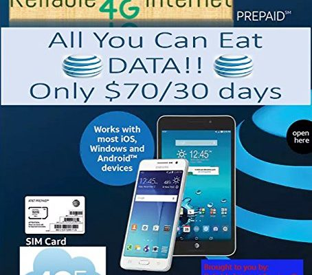 AT&T Unlimited Data Sim – Triple Cut sim fits all devices $70/30