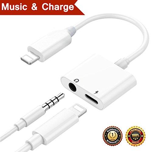 Lightning Jack Headphone Adapter for iPhone Dongle Earphone