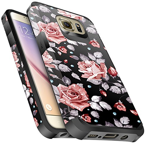 layer Hybrid Sturdy Armor Cover Case for Samsung Galaxy S6 -Rose Gold .