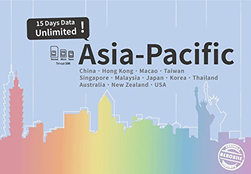 Asia-Pacific Plus Unlimited data / 15 days Japan, China, HK
