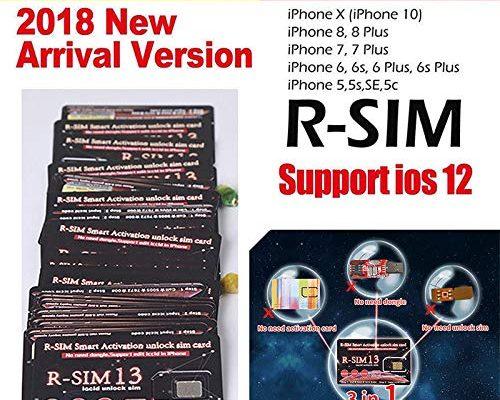 ETbotu R-SIM 13 for iPhone XR/XS/X/8/8p/7/7p/6s/6sp 4G R-sim Nano