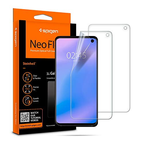 Galaxy s10 case compatible with Samsung Galaxy S10 Spigen neoflex is made of a flexible film to adapt to every curve on the infinity screen.
